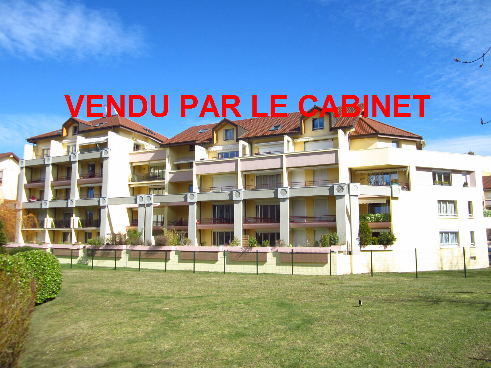 """EXCLUSIVITE St Julien-en-Genevois Résidence """"Les Cyclades II"""" agréable T3 de 77 m² en étage élevé..VENDU PAR LE CABINET"""
